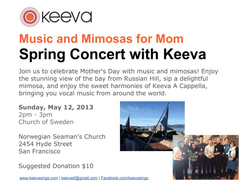 Keeva Spring Concert Flyer